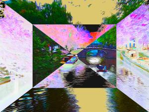 Amsterdam Canals #2 by Yolanda V. Fundora,  Digital Image (2013)