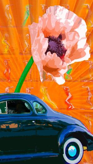 Yolanda V. Fundora,  Bogart on Ocean Drive, digital art, 2015